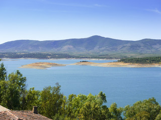 Gabriel y Galán reservoir in Las Hurdes, Spain