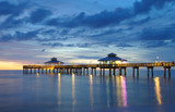Fort Myers Pier at Sunset, Florida USA poster