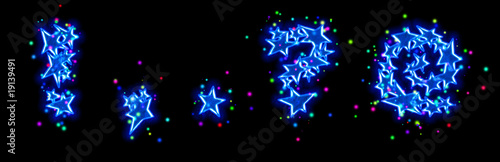 christmas star alphabet - dot comma question