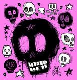 Fototapety Skull doodles