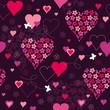 seamless romantic pattern