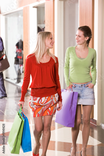 Shoppers chatting