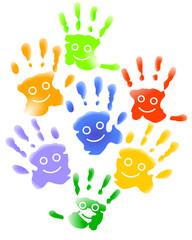 Lachende Kinder-Hände