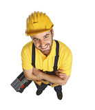 fun contruction worker portrait