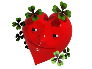 glückliches Herz