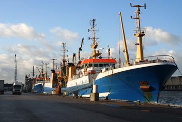 Fishing Trawlers in the Harbor