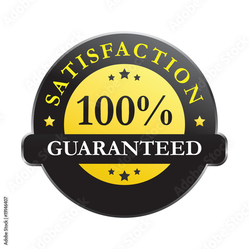 100% satisfaction guaranteed (vector)
