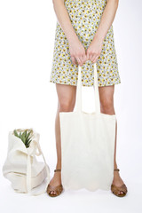 A Young Woman With Shopping Bags