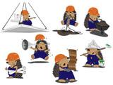 set of hedgehogs builders