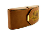 Brown eyeglass case