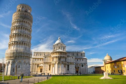Foto op Aluminium Oude gebouw Pisa, Piazza dei miracoli.