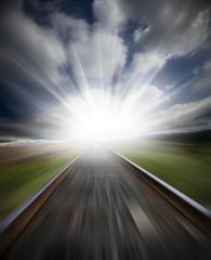 railway motion blur
