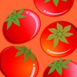 Illustration of tomato in red colour background