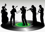 Jazz music record poster