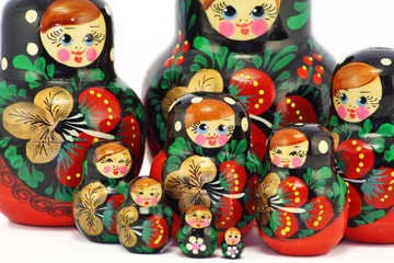 Bright wooden dolls