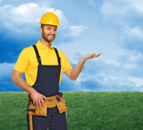 manual worker and natural background