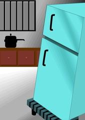 Illustration of fridge