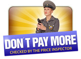 don´t pay more price offer inspector price guard poster