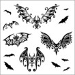 Halloween bat, Fledermaus, Fledermäuse, design elements
