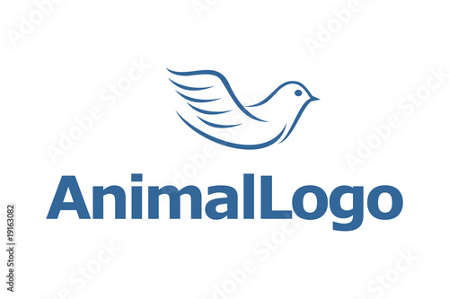 blue pigeon dove logo from logomaster, Royalty-free vector #19163082