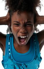 Girl screaming loud