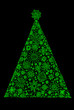 Design of the christmas fir tree