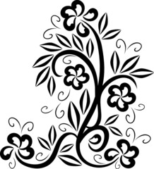 Design floral tattoo symbol