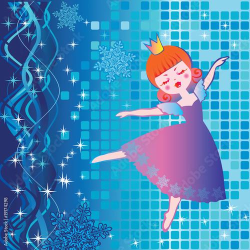 Foto op Aluminium Kasteel Dancing beautiful princess. Fairy-tale.