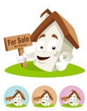 House Cartoon Mascot - for sale poster