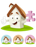 House Cartoon Mascot - puzzle poster