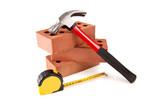 brick , hammer And meter