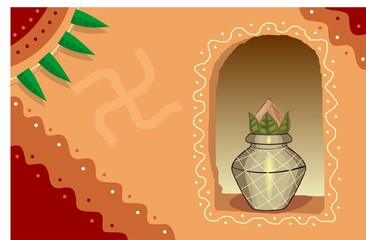 Illustration of divine pot in a wall