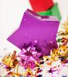 Purple star shaped box