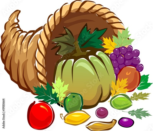 Illustration of a basket of vegetables