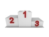 Isolated 3d white pedestal / podium with numbering