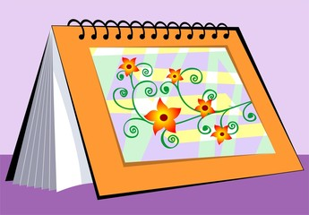 Illustration of picture with colour shading