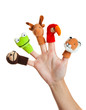 Hand with animal puppets - 19183258