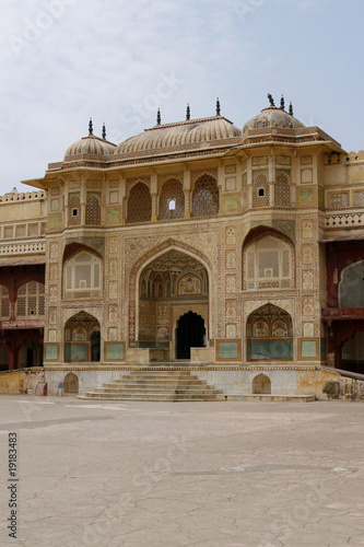 Abandoned temple in Amber Fort complex, India