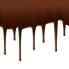 Chocolate drips. Seamless. Change length of drops (in vector)