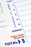 Prepare the deposit slip to make a bank deposit poster