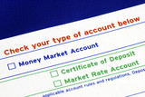 Select your bank account in the deposit slip poster