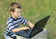 child learns to laptop