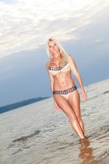 Sexy bikini model.