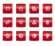 Simple icons isolated on white - Set 8