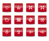 Simple icons isolated on white - Set 9