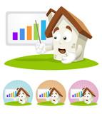 House Cartoon Mascot - presentation poster