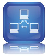 NETWORK Web Button (Réseau Connexion Connection Internet Vector)