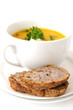carrot soup and bread