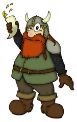 Wikinger, Zwerg, betrunken, Viking, Dwarf, drunk