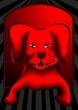 Illustration of red colour dog